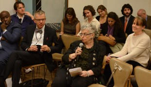 Ms. Shulamith Koenig, founder of  the People's Movement for Human Rights Learning, speaking in audience at IPI GP launch