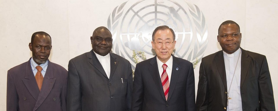 Central African Republic Religious Leaders at the UN with Secretary General Ban Ki-moon