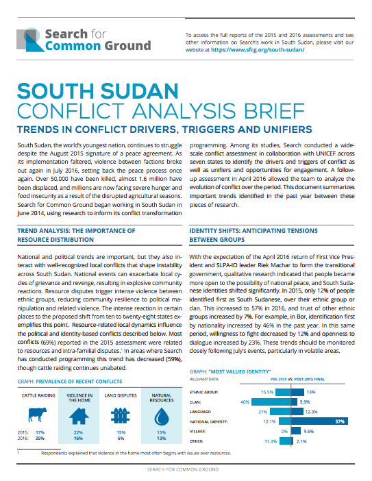 Natural Resources In South Sudan Conflict