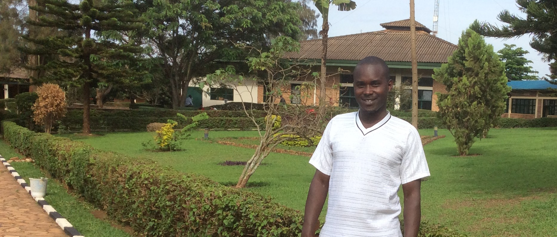 Gilbert Masavo at the Kigali Institute of Education