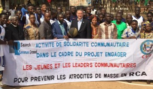 A visit from the U.S. Ambassador to the Central African Republic