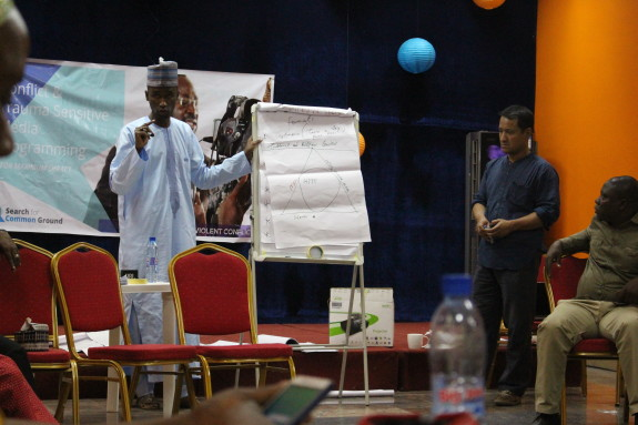 Sixty journalists received training on how to report on conflict and trauma-related issues.