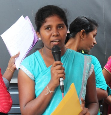 Thanuja during a facilitated discussion.