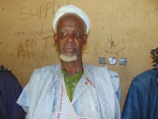 Abdulkadir at one of the screenings in Agbashi.